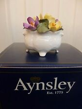 Aynsley Bone China Flower of the Month Floral Ornament Crocus New & Boxed Rare!!