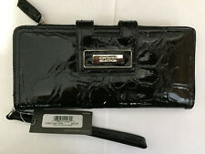 Kenneth Cole Reaction BLACK Leather Women Wallet Clutch MSRP $60 NWT