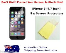 Screen Protector iPhone 6 4.7 inch 5 x Ultra Clear Screen Protector