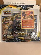 Pokemon Unbroken Bonds Booster Pack. Three Booster Blister Pack+card&coin