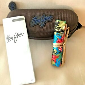 NEW - Maui Jim Sport Case Bundle - Large Brown Zippered Hard Case with Pouch