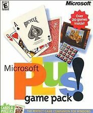 Microsoft Plus Game Pack: Cards & Puzzles (PC, 2000) (New! plain jewel case )