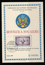 Luxembourg 1945 WW-2,#B120 Honoring United States Special Cancellation Card,RARE