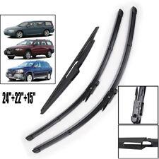 3PCS Front Rear Windscreen Wiper Blades Kit Fit For Volvo XC90 XC70 V70 04-07