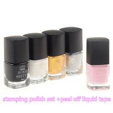 5Pcs/set Born Pretty Nail Art Stamping Polish Nail Palisade Latex DIY Design