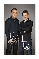 ANT AND DEC AUTOGRAPHED SIGNED A4 PP POSTER PHOTO