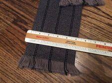 "Stetson Mens winter wool scarf fringes geometric gray black 49.5"" long Man cave"