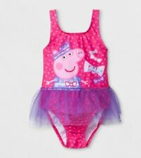 PEPPA Pig Swimsuit Toddler Girl's size 2T NeW Pink Bathing Suit with TUTU NWT
