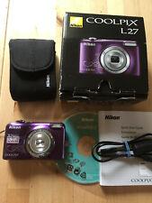 Nikon COOLPIX L27 Digitalkamera 5xZoom purple OVP Objektiv schließt leider nicht