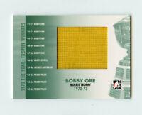 09/10 ITG 1972 YEAR IN HOCKEY TROPHY WINNERS JERSEY BOBBY ORR /10 BRUINS *66558