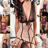 Lingerie Lace Denier Chemise babydoll Slip Night Gown Exotic Dancer Wear BD113