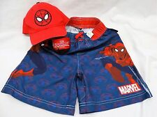 Universal Studios Spiderman Kid's 3 piece set Hat, Ball, & Swim Trunks