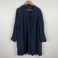 The Ark Robe Dress Womens XL Blue Open Front Long Sleeve