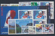 Grönland Jahrgang 1993 postfrisch in den Hauptnummern kompl. ohne Block 6,7 + 8
