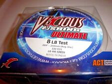 Vicious Ultimate Act Fishing Line 8-lb Test / 330yds lo-vis green New Stock