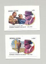 Sierra Leone 1991 DeGaulle 2v Imperf Essays on Cards