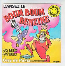 """Guy DE PARIS Vinyle 45T 7"""" DANSEZ LE BOUM BOUM BENZINE -VOGUE 10203F Rèduit RARE"""