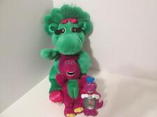 Barney the Dinosaur Baby Bop Plush Night Light Lot Stuffed Animal