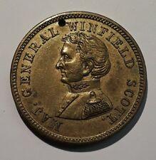 1852 Winfield Scott Campaign Medal DeWitt WS1852-13 Brass AU/UNC SCARCE!