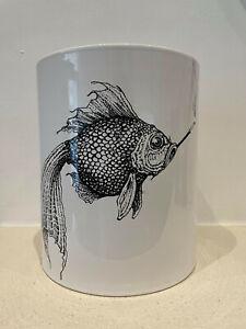 Rory Dobner Smokey Fish Illustrated Voluminous Vase