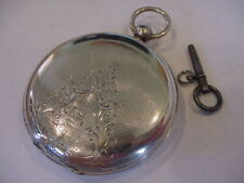 Ebauche Key Wind Pocket Watch No Res! 1875 M I Tobias Fine Silver LeCoultre Bar