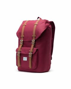 Herschel Little America Mens & Womens Mid Backpack Rucksack - Red Wine