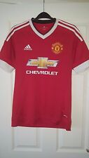 Mens Football Shirt - Manchester United - Home 2015-16 - Adidas - Chevrolet - S