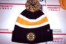 BEST OFFER!! Boston Bruins 47 Brand Knit Hat WITH POM POM  FREE SHIP