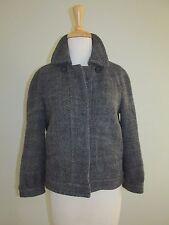 J Crew Size 6 Gray Wool Blend Bomber Style Jacket