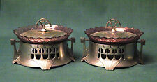 ART NOUVEAU WMF silver-plated Bowl Pair German Austrian plated silver plate
