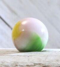 "Vintage Vitro Agate 3 Color Sweet Pea Tiny Bit Aventurine Parrot .64"" Marble #98"