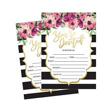 50 Fill In Invitations, Wedding Invitations, Bridal Shower Invitations, Rehea...
