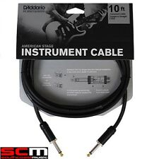 DADDARIO Planet Waves 10ft Instrument Cable American Stage Guitar Lead PWAMSG-10