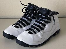 Nike Air Jordan 10 X 310805-103 Retro Steel Mens Sneakers Size 12 Pre-Owned