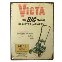 Victa Lawn Mower Tin Sign 35x26cm Australian Advertising Garage Shed 35cm x 26cm