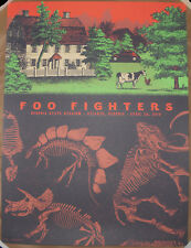 Foo Fighters 2018 Atlanta Screen Print Poster Status Serigraph Justin Helton AE