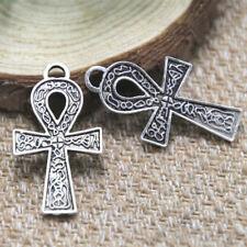 12 mm argent sterling Ankh Charm British fournisseur pour fabrication de bijoux S4