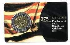 Set monedas 2 euros en prueba Cataluña 2016 trial coin proof Catalunya Catalonia