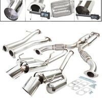 """Fit 03-07 G35 /350z 2Dr Coupe Stainless Steel 2.5"""" Catback System 3.75"""" Muffler"""