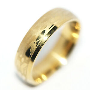 Fashion Jewelry Gold Band Ring for womens mens Party rings cool rings size 9