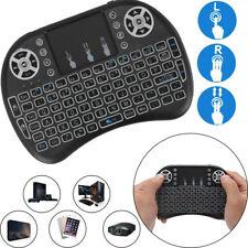 Mini Funk Kabellos Tastatur Touchpad Wireless QWERTY Keyboard Backlit-DHL