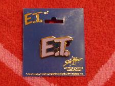 VINTAGE E.T. THE EXTRA-TERRESTRIAL LOGO Pinback/Brooch/Pin NEW Star Power