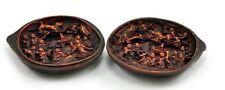 Vintage Chinese Pumpkin Hidden Resin Decor  Box - 18 Lohan Arhat in Pure land
