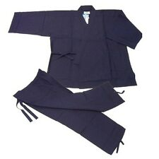 Japanese Kimono Samue Hemp For Men Navy M Size