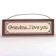 Grandma I Love You Sign rustic farmhouse style primitive wood grandmother plaque