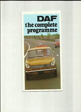 DAF 33, 44, 55  SALES BROCHURE SEPTEMBER 1970 FOR 1971 MODEL YEAR