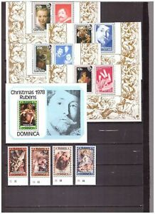 s16252) RUBENS PAINTINGS QUADRI MNH** 1977 Gambia Dominica 8v + S/S