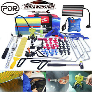 Auto Body Paintless Hail Repair PDR Tools Dent Puller Lifter LED Light Removal