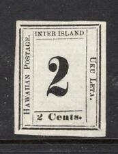 Hawaii 1864 2¢ Black - Unused - 4 Margins - SC# 24  Cats $350.00 . No Reserve!