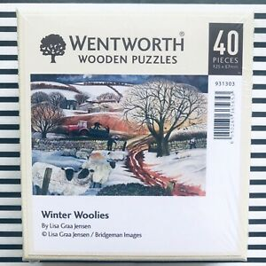 WENTWORTH Winter Woolies Sheep 40 Piece Wooden Puzzles ~ NEW in Box ~ Sealed